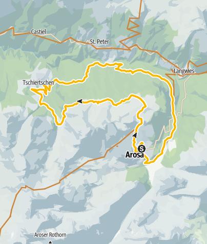 Kaart / 636 Ochsenalp – Tschiertschen