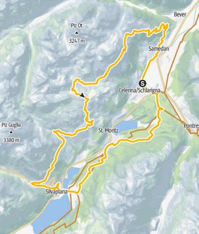 Karte / 672 Padella - Corviglia - Panoramatour