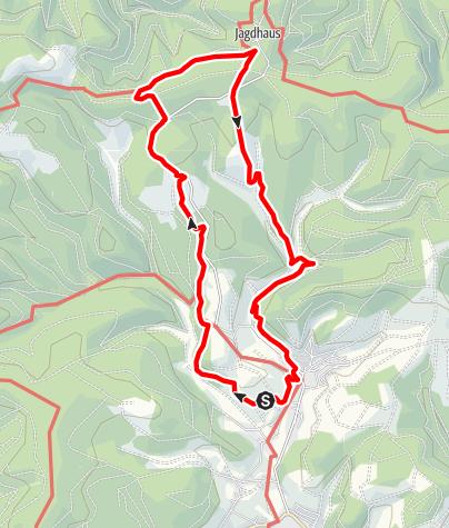 Karte / Rothaarsteig-Spur Wisent-Pfad