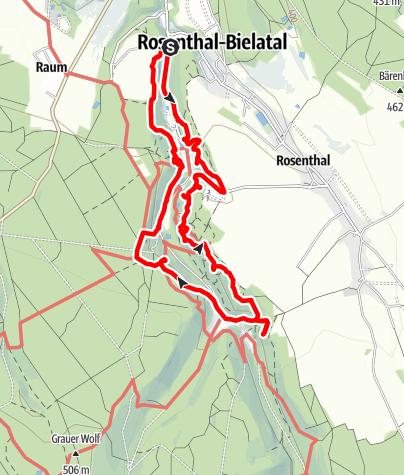 Karte / Durch das Kletterparadies Bielatal