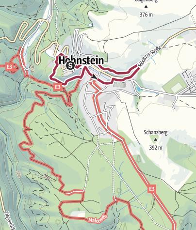 Karte / Unterwegs auf dem Hohnsteiner Kasperpfad