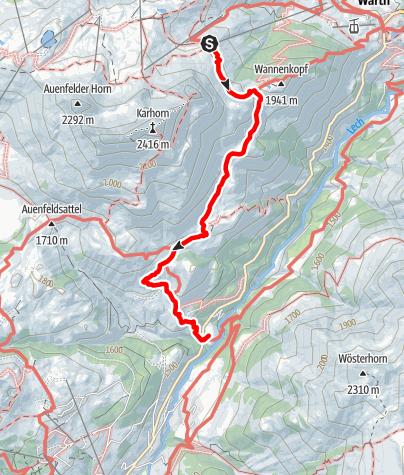 Karte / Von der Bergstation Steffisalp nach Bürstegg