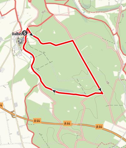 Karte / Wanderung am Kloster Dalheim