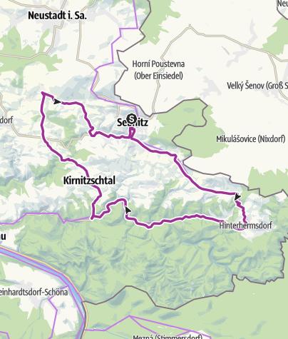 Map / Mühlentour durch die Hintere Sächsische Schweiz