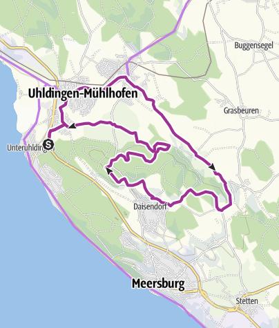 Karte / Aussichtsreiche Radtour durch herrliche Naturlandschaften