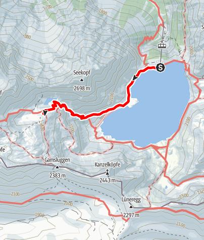 Karte / Douglasshütte - Totalphütte