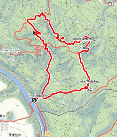 Karte / Stiegentour: Wilde Hölle & Heilige Stiege