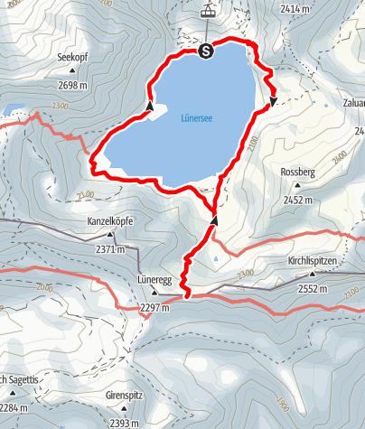 Karte / Douglasshütte - Gafalljoch