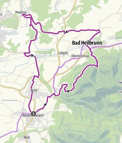 Karte / Über Höhenweg nach Bad Heilbrunn