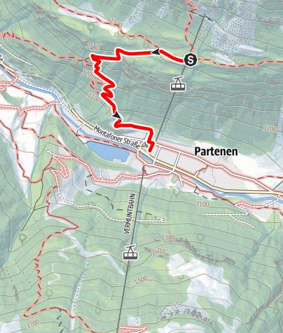 Karte / Oberhalb von Partenen - Tafamuntmaisäß