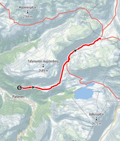 Kaart / Tafamunt - N. Heilbronner Hütte