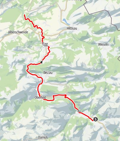 Karte / Radweg Bregenzerwald