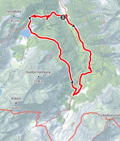 Karte / Rundwanderung Neualm - Duisitzkarsee