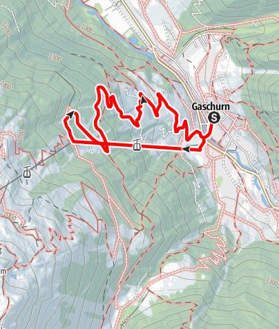 Karte / Gaschurn - Lammhütta
