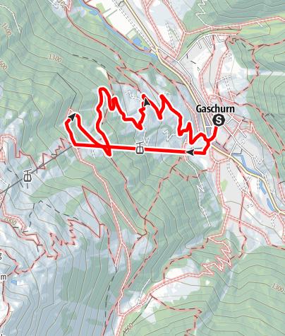 Kaart / Gaschurn - Lammhütta