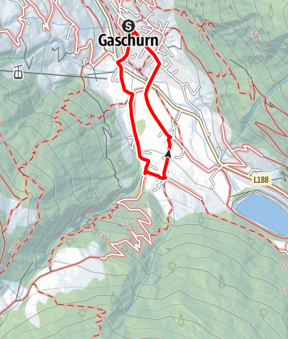 Map / Gaschurn - Klusertobel