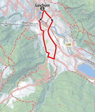 Kaart / Gaschurn - Klusertobel