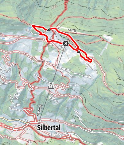 Kaart / Silberpfad Kristberg