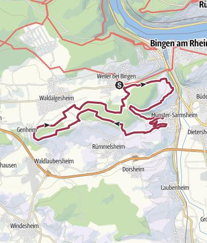 Karte / 29. September 2019: Wandererlebnis Rhein-Nahe Schleife