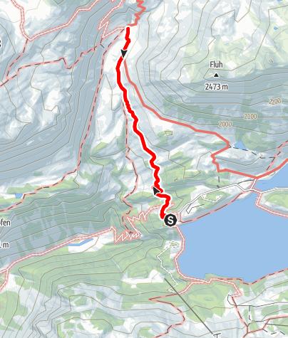 Map / Kops Stausee - Verbellaalpe