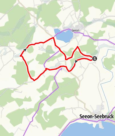 Karte / Großer Mühlenweg Seeon-Seebruck