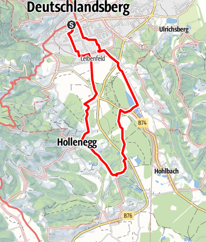 Karte / Rundweg über Schloss Hollenegg - F5