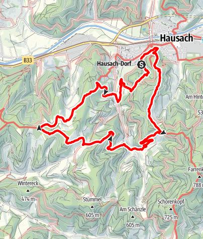 Karte / Genießerpfad - Hausacher Bergsteig