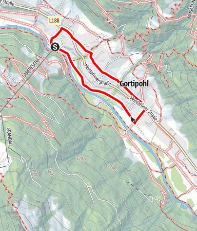 Map / Garfrescha - Gortipohl