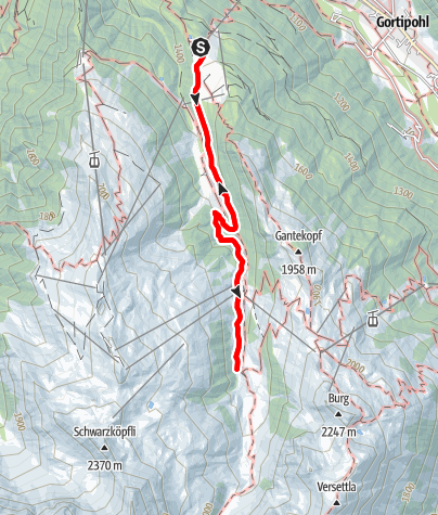 Karte / Alpwanderung Nova über Novatal