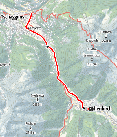 Map / St. Gallenkirch - Schruns
