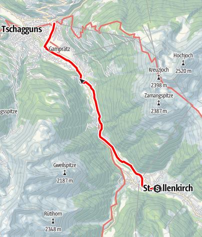 Map / St. Gallenkirch - Schruns