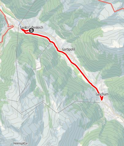 Kaart / St. Gallenkirch - Gaschurn