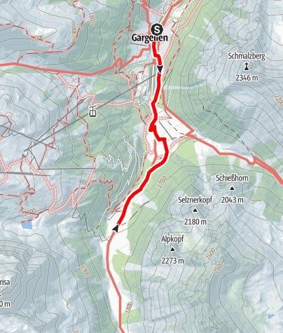 Map / Gargellen - Valzifenz Alpe