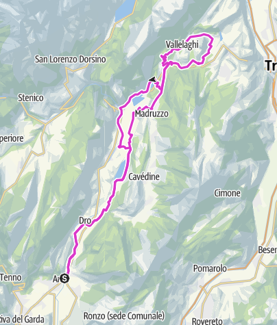 Map / Lake Cavedine - Vezzano - Lake Terlago