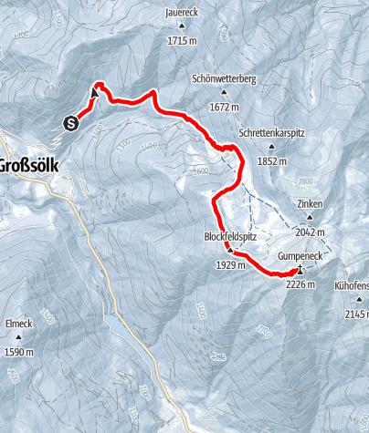 Karte / Gumpeneck 2.226 m