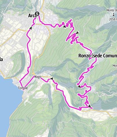 Karte / Monte Velo - Passo S.Barbara - Loppio