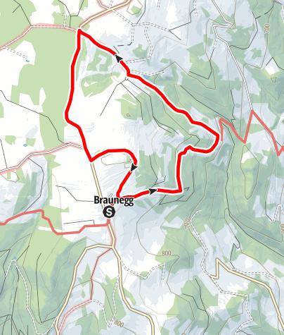 Mapa / Braunegger Rundwanderweg (Eibelhof-Scheib)