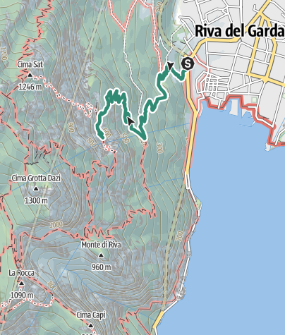 Map / Bastione and Santa Barbara, the lords of Riva del Garda