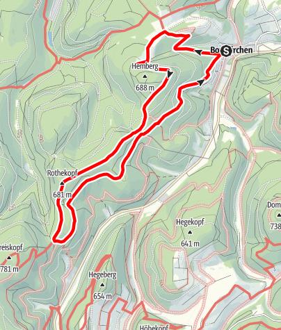 Karte / Grenzgang Bontkirchen