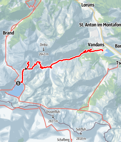 Karte / Douglasshütte - Saulakopf