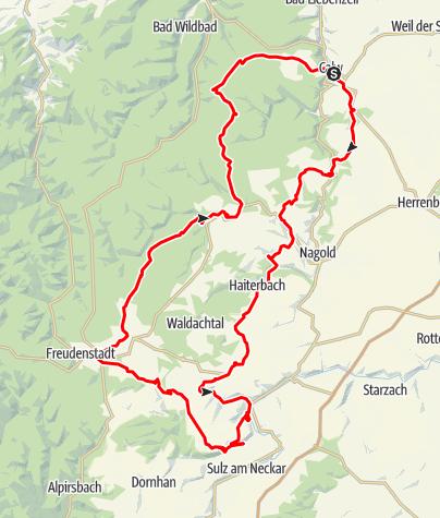 Karte / Calwer Rennradrundtour Nummer 2