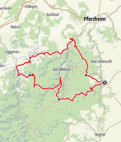 Karte / Calwer Rennrad-Rundtour 3