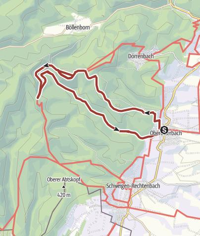 Carte / Weg der Geschichte in Oberotterbach