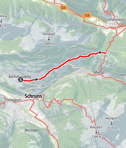Map / Bartholomäberg - Innerberg - Kristberg