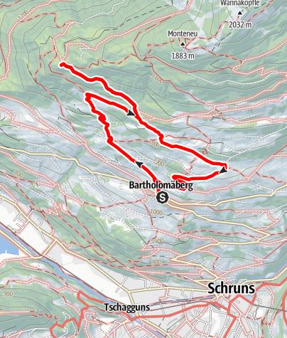 Karte / Bartholomäberg - Rellseck