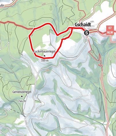 Mapa / Walderlebnisweg Gschaidt
