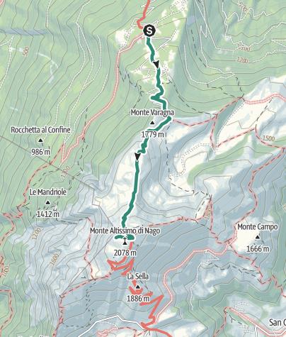 Karte / Von Nago auf den Monte Altissimo