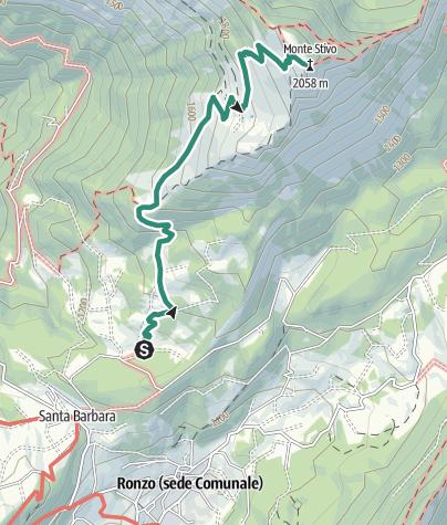 Map / A classic hike of Garda Trentino: Monte Stivo