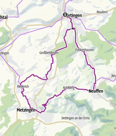 Karte / Wein-Berg-Tour am Albtrauf