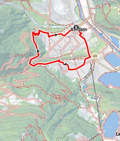 Karte / Innerbach - Lende - Schießstand - Zentrum Vandans